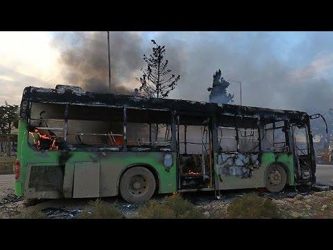 Χαλέπι: Επίθεση κατά λεωφορείων που θα μετέφεραν κατοίκους σιιτικών χωριών