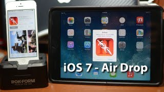 IOS 7 AirDrop Demo With IPhone 5&iPad Mini
