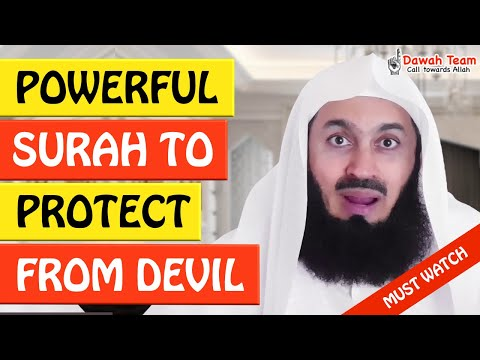 🚨POWERFUL SURAH TO PROTECT FROM DEVIL🤔 - MUFTI MENK