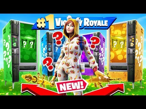 Vending Machine LUCKY BLOCKS *NEW* Game Mode In Fortnite Battle Royale