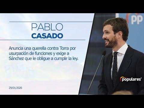 Declaraciones de Pablo Casado tras la reunión de la Junta Directiva de ATA