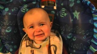 Emotional baby! Too cute! - YouTube