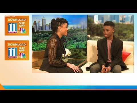 14-year-old actor Jahi Winston talks working with Taraji P. Henson on Proud Mary
