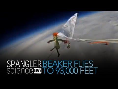 Beaker fliegt auf 93.000 Meter über der Erde - Cool Science Experiment