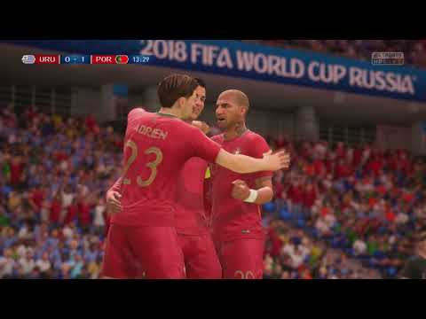 World Cup 2018 Portugal Vs Uruguay - Round Of 16 Full Match Time Sim  (FIFA 18)