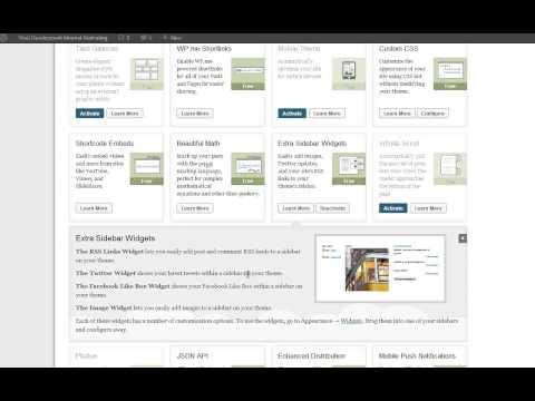 Jetpack WordPress sidebar widget