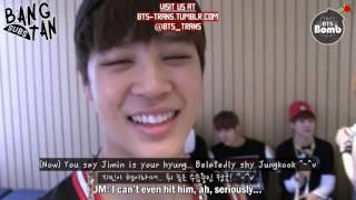 image of [ENG] 140108 [BANGTAN BOMB] Jungkook...Jimin is elder than you LOL