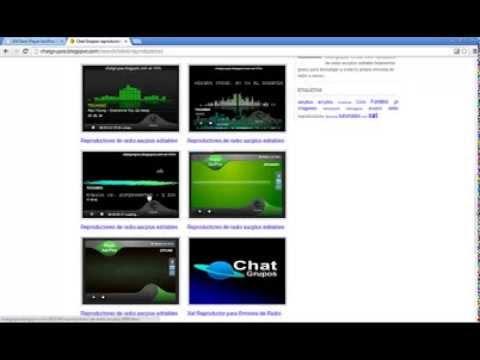 Tutorial editar reproductores de radio aacplus para tu web