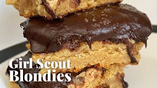 How to Make Tagalong Peanut Butter Blondies | Chowhound at Home by Chowhound