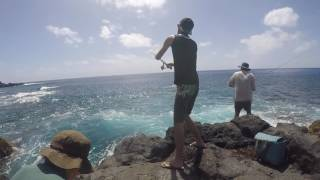 Part 3 of a recent trip my dad and i had to Pitcairn island. this video shows us taking the containers back to the ship in the longboat. Tuna fishing on handlines.