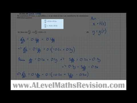 Coupled First Order Simultaneous Differential Equations [Year 2 Further (Pure Core)]
