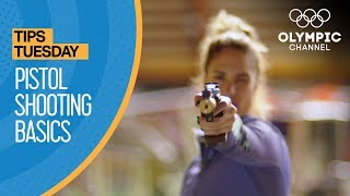 "Olympic Silver Medallist Élodie Clouvel demonstrates the basics skills exercises to begin shooting with the laser pistol used in Modern Pentathlon competitions.Learn how to improve your game from the best athletes in the world with ""Olympians' Tips"": https://www.olympicchannel.com/en/playback/olympians-tips/how-to/Subscribe to the Olympic Channel here: http://bit.ly/1dn6AV5"