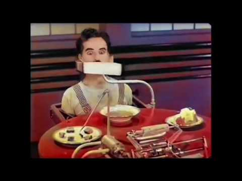 Modern Times - Eating Machine - Charlie Chaplin - Colored version Using Machine Learning