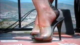 Sexy Nylonfüsse In High Heels