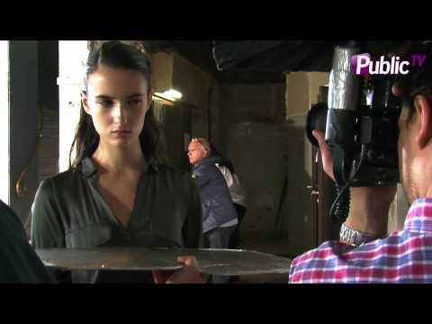 Backstage du défilé Roland Mouret PE 2014 avec Orlando Pita, coiffeur studio L'Oréal Professionnel