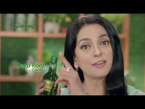 Kesh King Ayurvedic Oil with Deep Root Comb Proven To Grow New Hair & Reduce Hairfall