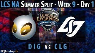 Dignitas vs Counter Logic Gaming - LCS NA 2015 - Summer Split - Week 9 - Day 1 - DIG vs CLG [FR]