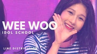 IDOL SCHOOL 아이돌학교 - WEE WOO || Line Distribution