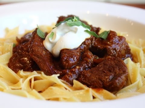 recipes - Learn how to make a Beef Goulash recipe! Go to http://foodwishes.blogspot.com/2013/01/beef-goulash-thick-hungarian-soup-thin.html for the ingredient amounts,...