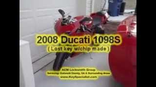 8. Atlanta GA: 2008 Ducati 1098S - Lost key with chip made!