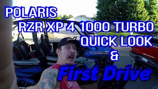 8. Polaris RZR XP 4 1000 Turbo Quick Look & First Drive