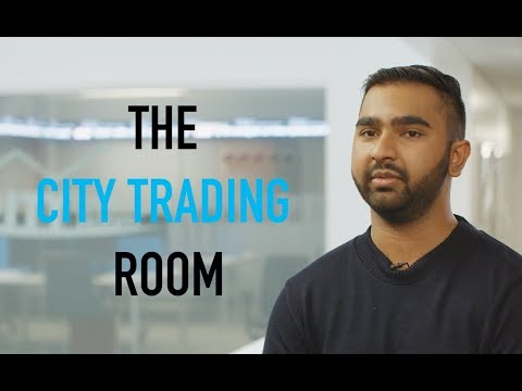 The City Trading Room, our mock trading floor - Business School
