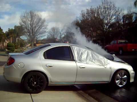 Dodge Neon Burnout Fail