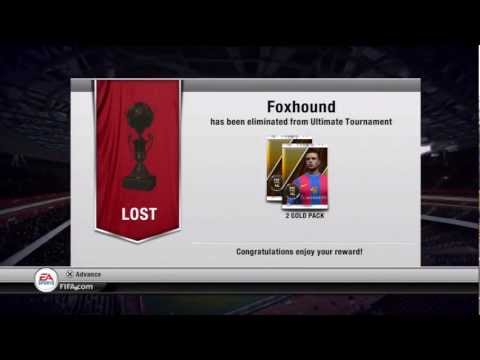 FIFA 12 Gold Pack - A FIFA 12 Ultimate Team video showcasing a amazing gold pack glitch. How to get the glitch when you lose in a tournament, you will win gold packs.
