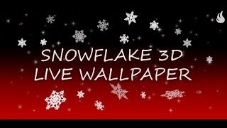 Snowflake 3D Live Wallpaper YouTube video