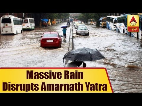 Massive Rain Disrupts Amarnath Yatra, Pilgrims Stopped At Baltal And Pahalgam | ABP News
