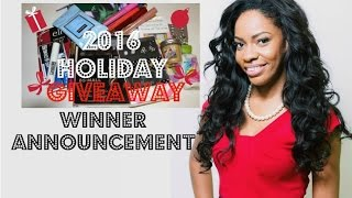 2016 Holiday Giveaway Winner
