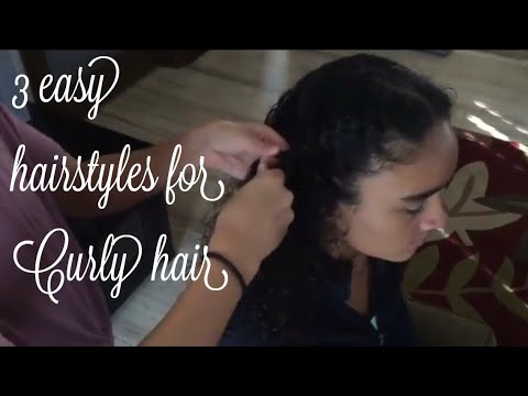 Curly hairstyles - 3 easy hairstyles for curly hair