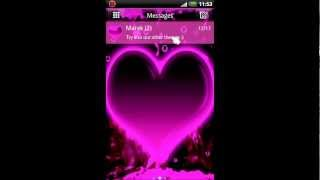 GO SMS Pro Hearts Theme YouTube video