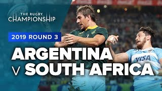 Argentina v South Africa Rd.3 2019 Rugby Championship video highlights | Rugby Championship
