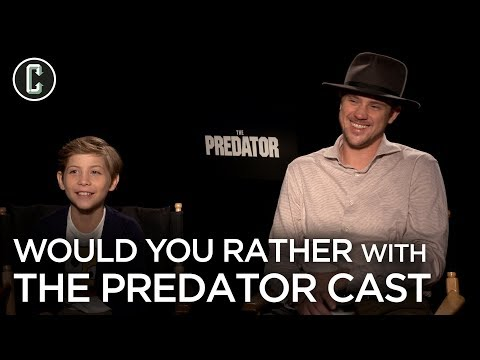 The Predator Cast Debates Fighting a Predator or Arnold Schwarzenegger's Dutch