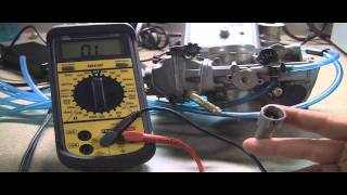 8. Testing Motorcycle Throttle Position Sensor: Checking Ohms with a multimeter
