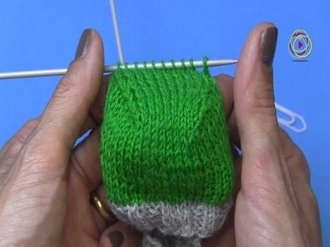 Projekt: Sockenstricken hier das Fersenkäppchen 4. Teil