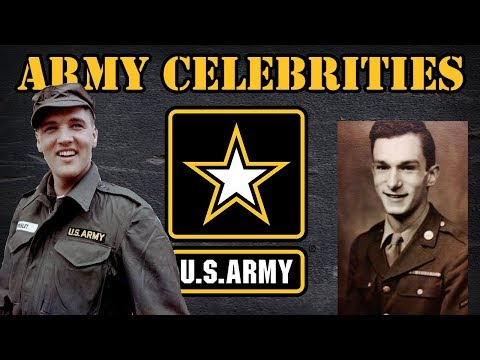 5 celebrities that were in the US Army