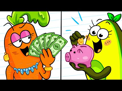 RICH STUDENT VS POOR STUDENT || Funny Differences by Avocado Couple
