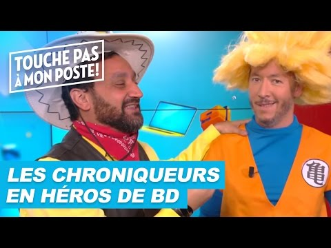 Les chroniqueurs de TPMP déguisés en héros de BD