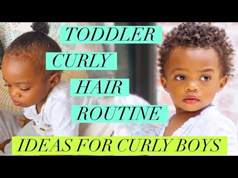 Curly hairstyles - TODDLER CURLY HAIR ROUTINE