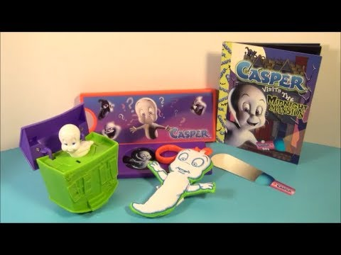 2001 CASPER THE FRIENDLY GHOST SET OF 4 WENDYS KIDS MEAL TOYS VIDEO REVIEW