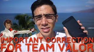 APPRAISAL SYSTEM: IMPORTANT CORRECTION FOR TEAM VALOR by Trainer Tips