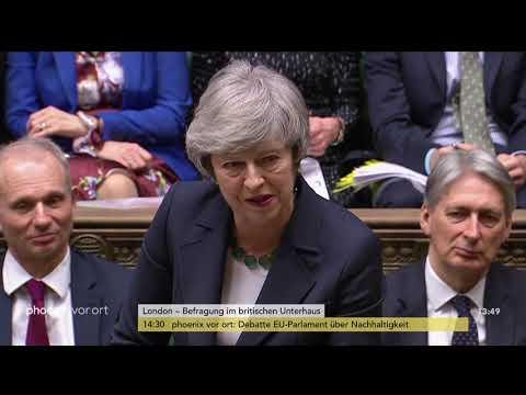 Befragung von Premierministerin Theresa May im britischen Unterhaus am 13.02.19