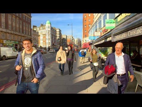 LONDON WALK | Edgware Road incl. Shops, Restaurants and Cafés | England (видео)