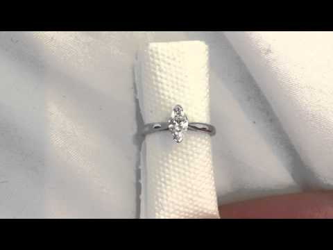 Platinum 0.48ct Marquise Diamond Solitaire Ring (GIA unscripted) For Sale £795 at The Diamond Centre