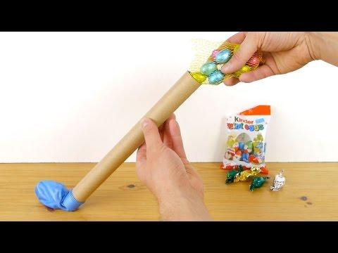 Riempie Un Palloncino Con Delle Uova Di Cioccolato. Il Risultato Renderà Originale La Tua Pasqua