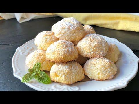 Galletas blanditas con 3 ingredientes (SIN HARINA y en solo 10 minutos) видео