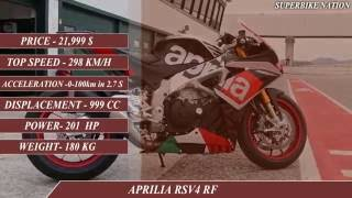 7. Aprilia RSV4 RF  vs KTM 1190 RC8R-Specifications