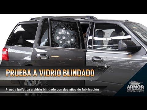 Prueba balística a vidrio blindado de Ford Expedition 2017